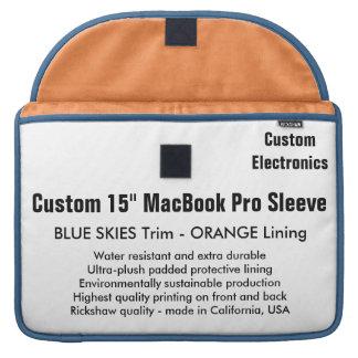 "Custom 15"" MacBook Pro Sleeve - Blue & Orange"