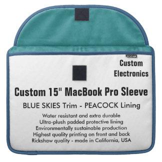 "Custom 15"" MacBook Pro Sleeve - Blue & Peacock"