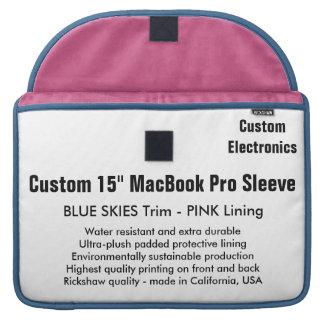 "Custom 15"" MacBook Pro Sleeve - Blue & Pink"