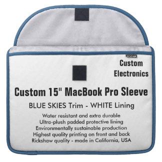 "Custom 15"" MacBook Pro Sleeve - Blue & White"