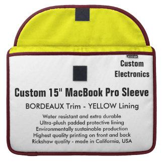 "Custom 15"" MacBook Pro Sleeve - Bordeaux & Yellow"