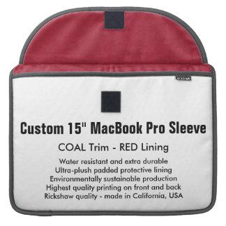 "Custom 15"" MacBook Pro Sleeve - Coal & Red"