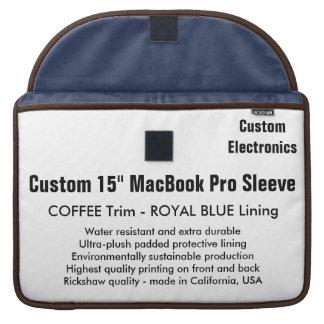 "Custom 15"" MacBook Pro Sleeve - Coffee & Blue"