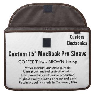 """Custom 15"""" MacBook Pro Sleeve - Coffee & Brown"""