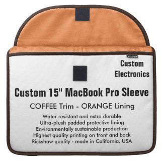 "Custom 15"" MacBook Pro Sleeve - Coffee & Orange"