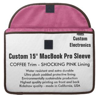 """Custom 15"""" MacBook Pro Sleeve - Coffee & Pink"""