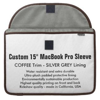 "Custom 15"" MacBook Pro Sleeve - Coffee & Silver"