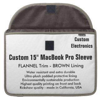 """Custom 15"""" MacBook Pro Sleeve - Flannel & Brown"""