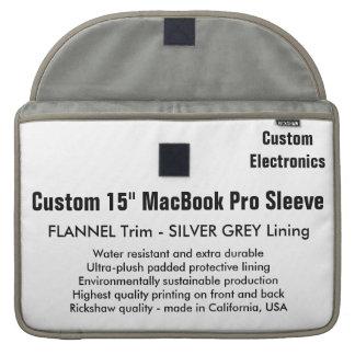"Custom 15"" MacBook Pro Sleeve - Flannel & Silver"