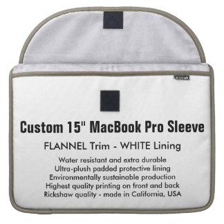 "Custom 15"" MacBook Pro Sleeve - Flannel & White"