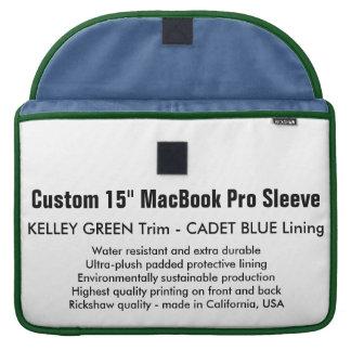 "Custom 15"" MacBook Pro Sleeve - Green & Blue"