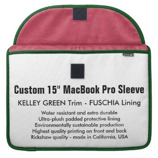 """Custom 15"""" MacBook Pro Sleeve - Green & Fuschia"""