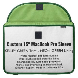 "Custom 15"" MacBook Pro Sleeve - Green & Neon Green"