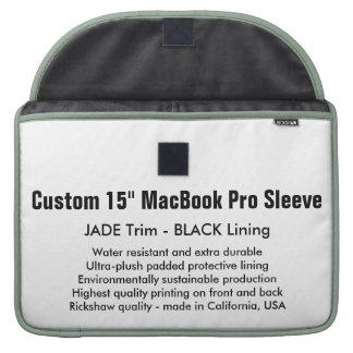 "Custom 15"" MacBook Pro Sleeve - Jade & Black"