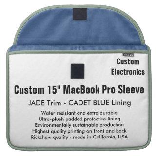 "Custom 15"" MacBook Pro Sleeve - Jade & Cadet Blue"