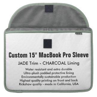 "Custom 15"" MacBook Pro Sleeve - Jade & Charcoal"