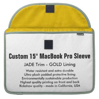 "Custom 15"" MacBook Pro Sleeve - Jade & Gold"