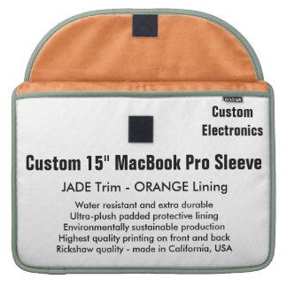 "Custom 15"" MacBook Pro Sleeve - Jade & Orange"