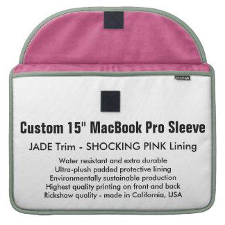 """Custom 15"""" MacBook Pro Sleeve - Jade & Pink"""
