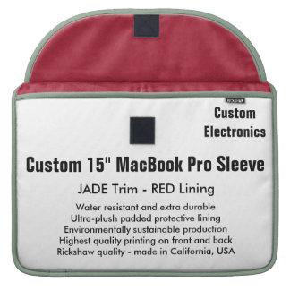 """Custom 15"""" MacBook Pro Sleeve - Jade & Red"""