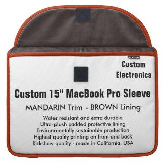 "Custom 15"" MacBook Pro Sleeve - Mandarin & Brown"