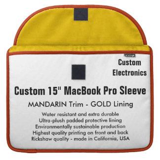 "Custom 15"" MacBook Pro Sleeve - Mandarin & Gold"