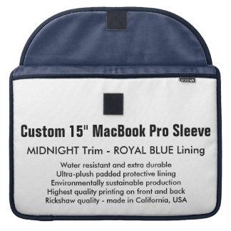 "Custom 15"" MacBook Pro Sleeve - Midnight & Blue"