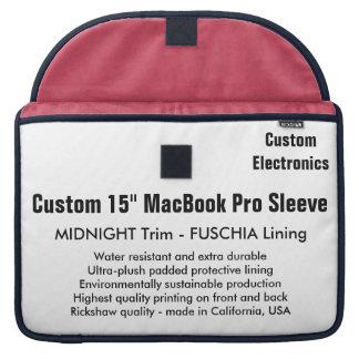 "Custom 15"" MacBook Pro Sleeve - Midnight & Fuschia"