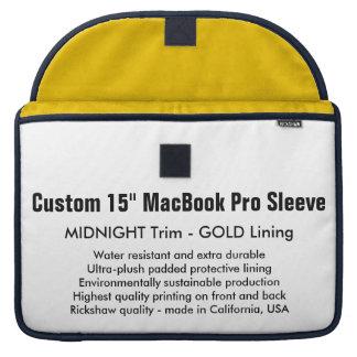 "Custom 15"" MacBook Pro Sleeve - Midnight & Gold"