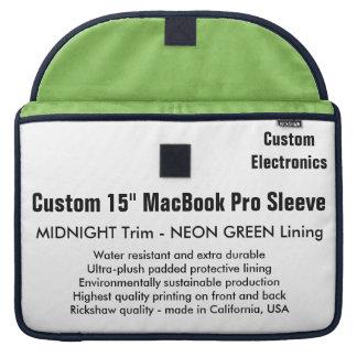 "Custom 15"" MacBook Pro Sleeve - Midnight & Green"