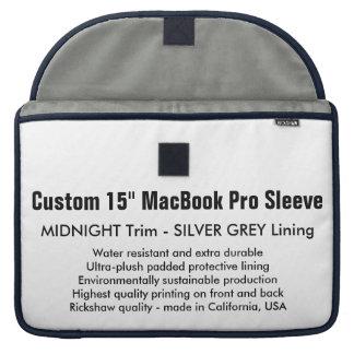 "Custom 15"" MacBook Pro Sleeve - Midnight & Silver"