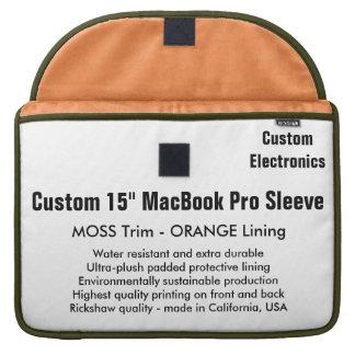 "Custom 15"" MacBook Pro Sleeve - Moss & Orange"