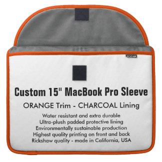 "Custom 15"" MacBook Pro Sleeve - Orange & Charcoal"