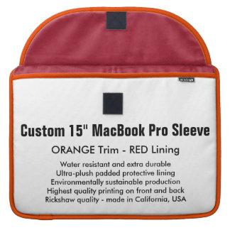 "Custom 15"" MacBook Pro Sleeve - Orange & Red"