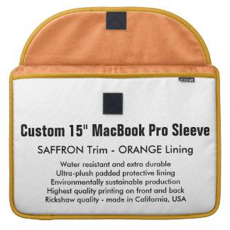 "Custom 15"" MacBook Pro Sleeve - Saffron & Orange"