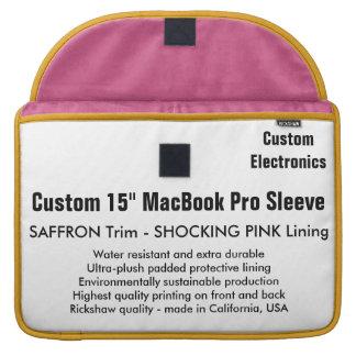 "Custom 15"" MacBook Pro Sleeve - Saffron & Pink"