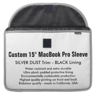 "Custom 15"" MacBook Pro Sleeve - Silver & Black"