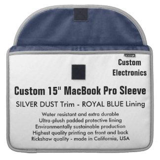 "Custom 15"" MacBook Pro Sleeve - Silver & Blue"