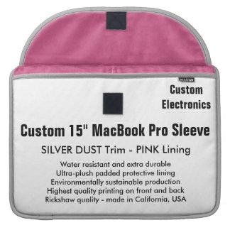 """Custom 15"""" MacBook Pro Sleeve - Silver & Pink"""