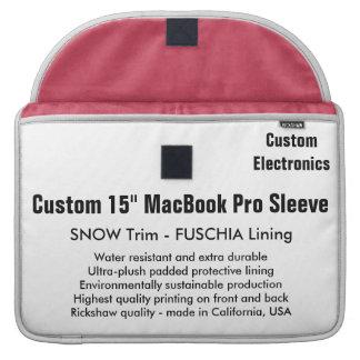"Custom 15"" MacBook Pro Sleeve - Snow & Fuschia"
