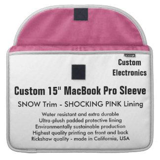 "Custom 15"" MacBook Pro Sleeve - Snow & Pink"