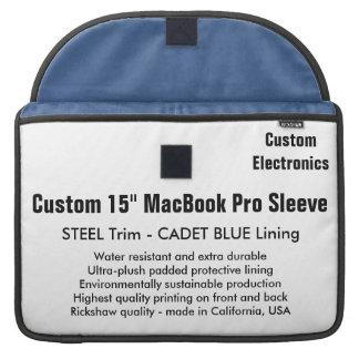 "Custom 15"" MacBook Pro Sleeve - Steel & Cadet Blue"