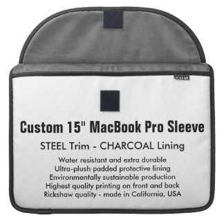 "Custom 15"" MacBook Pro Sleeve - Steel & Charcoal"