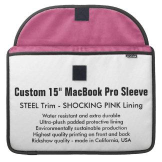 """Custom 15"""" MacBook Pro Sleeve - Steel & Pink"""