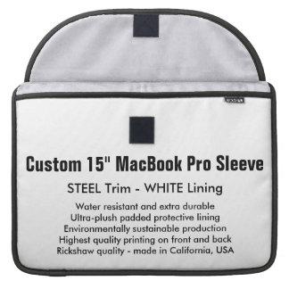 "Custom 15"" MacBook Pro Sleeve - Steel & White"