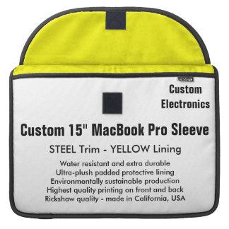 "Custom 15"" MacBook Pro Sleeve - Steel & Yellow"