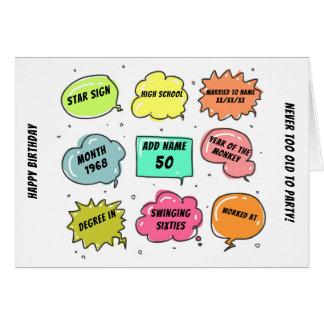 Custom 1968 yr born - THIS IS YOUR Life - Add BIO Card