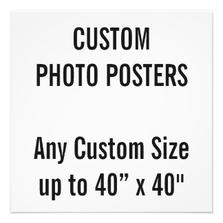 "Custom 20"" x 20"" Photo Poster, up to 40"" x 40"""