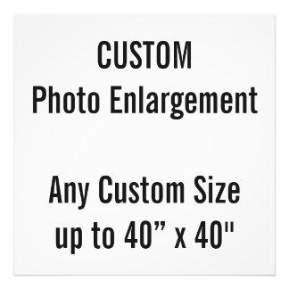 "Custom 28"" x 28"" Photo Enlargement up to 40"" x 40"""