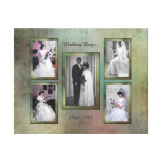 Custom 5 Photo Collage Canvas Print